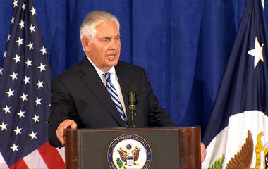 Rex Tillerson holds press briefing on Iran nuclear agreement