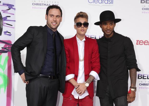 Scooter Braun, Justin Bieber, Usher Raymond