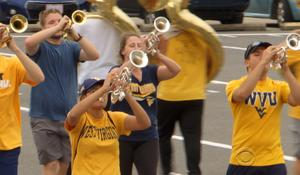 Still giving marching band the college try, 35 years later