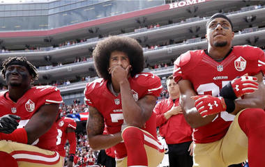 Trump says fire NFL players who kneel during anthem