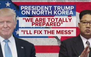 Trump: We are totally prepared for North Korea