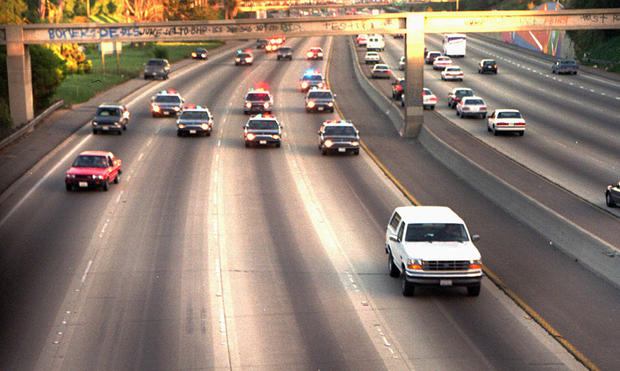 O.J. Simpson Ford Bronco car chase was 25 years ago; helicopter cameraman Jeff Mailes recalls chase, Nicole Brown Simpson murder case