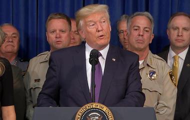 Trump visits Las Vegas in arise of mass sharpened