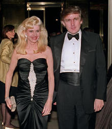 Billionaire Donald Trump and his wife Ivana arrive