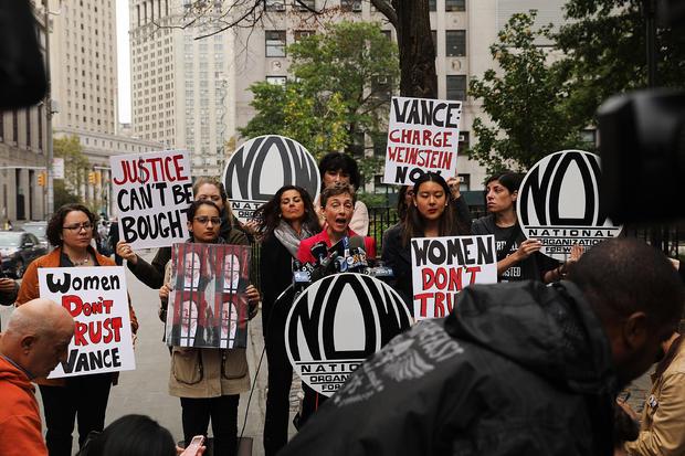 NOW protests Harvey Weinstein