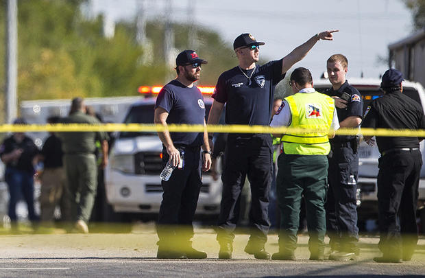 Law enforcement at Sutherland Springs Church Shooting Texas