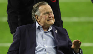 George H.W. Bush hospitalized following wife's funeral