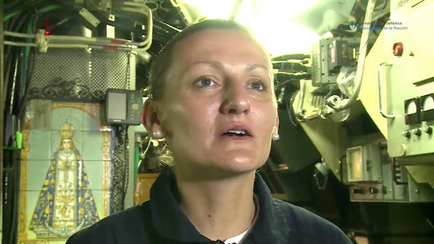 Maria Krawczyk, a submarine officer on board the Argentine navy submarine ARA San Juan, which went missing in the South Atlantic, is seen in this still image taken from a Ministry of Defense of Argentina video obtained by Reuters.