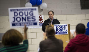 Democrats rally behind Roy Moore's opponent