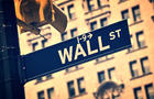 Wall street direction sign, New York vintage process