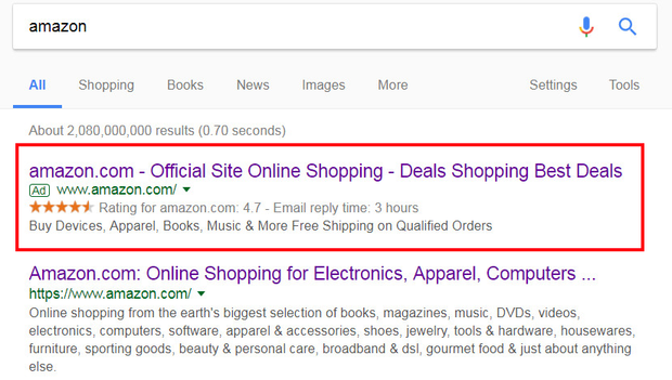 - Users Ad Amazon News Site Cbs For Fake Sent Google Searching To Scam