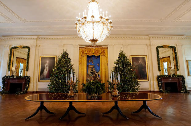 East Room decor White House Christmas 2017 Pictures CBS News