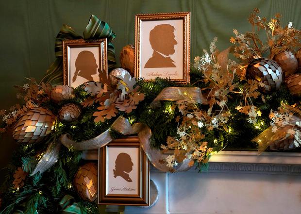 Christmas decor at the White House in Washington