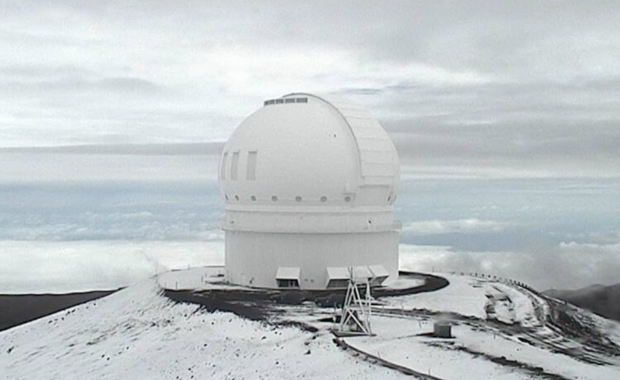 Hawaii's snow-covered volcanoes