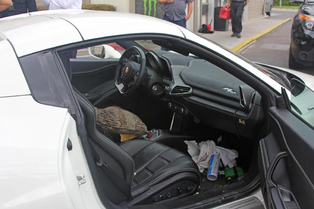 Trashed Ferrari