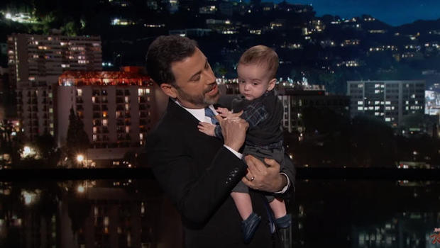 Jimmy Kimmel With Son On Set Gets Emotional Says Its