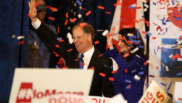 Democratic Senate Candidate Doug Jones Holds Election Night Watch Party In Birmingham