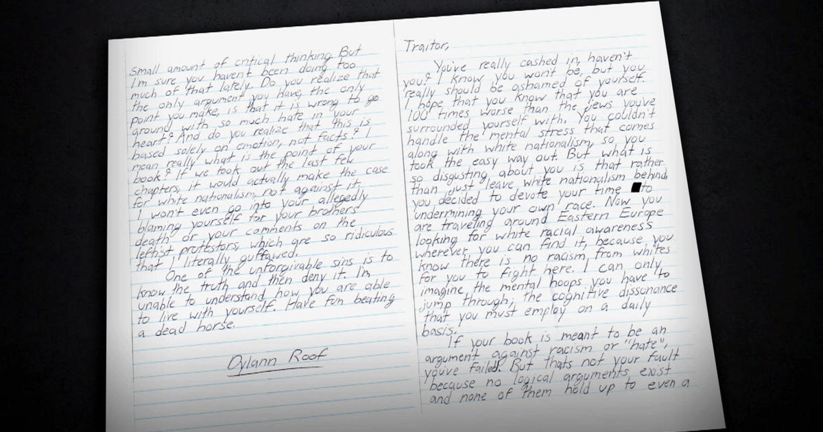 Letter From Charleston Church Shooter Reveals No Remorse