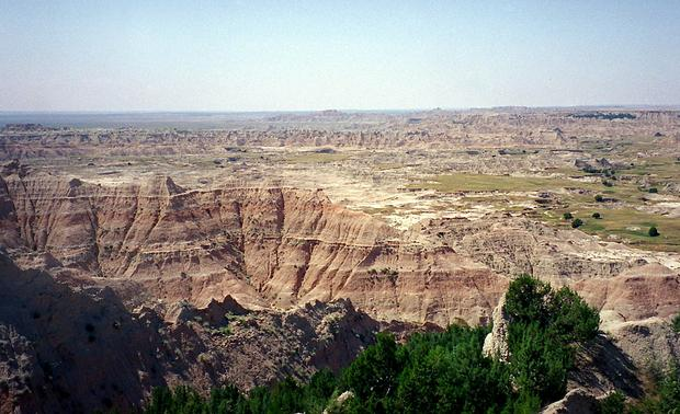 This August, 2001 photo shows the vast expanse of