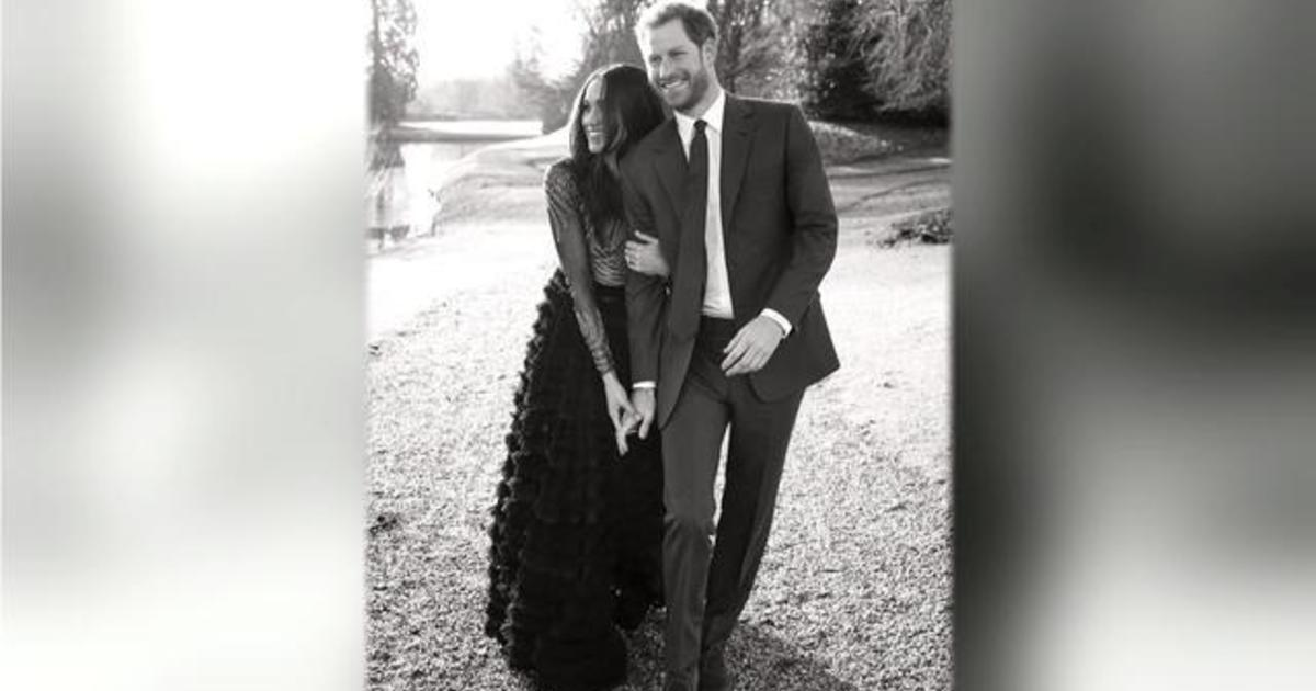 Prince harry and meghan markle release engagement photos cbs news