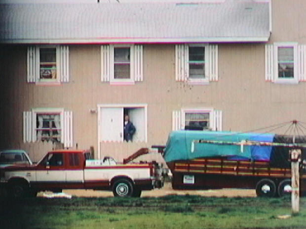 FBI cattle trailer at Waco compound