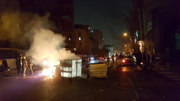 People protest in Tehran