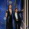 Presenters Geena Davis and Susan Sarandon at the 75th Golden Globe Awards in Beverly Hills, California