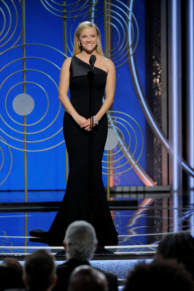 Presenter Reese Witherspoon at the 75th Golden Globe Awards in Beverly Hills, California