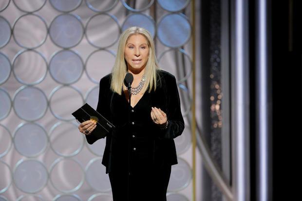 Presenter Barbara Streisand at the 75th Golden Globe Awards in Beverly Hills, California,