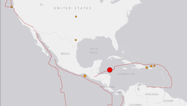 Magnitude 76 earthquake strikes off Central America USGS says
