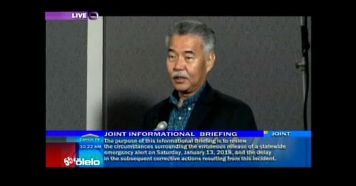 Hawaii lawmakers hold briefing on false ballistic alert