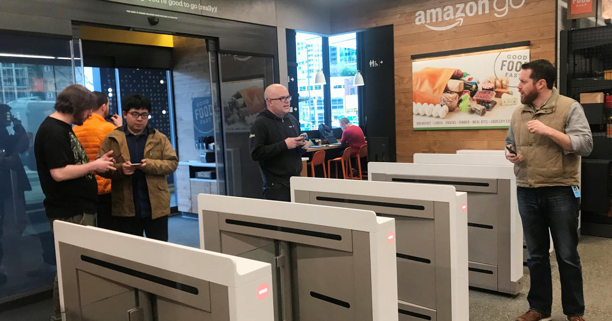 450dffbf39f5 Amazon Go store without cashiers opens in Chicago - CBS News