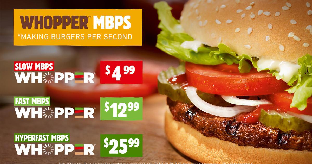 Burger King explains net neutrality with a $26 Whopper - CBS News