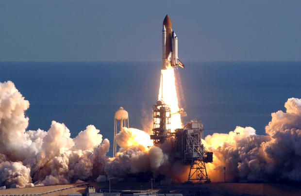 Space Shuttle Columbia Lifts Off
