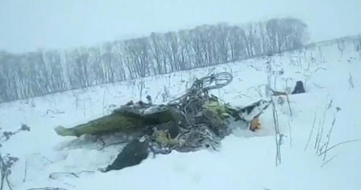 Russian plane crashes near Moscow - CBS News