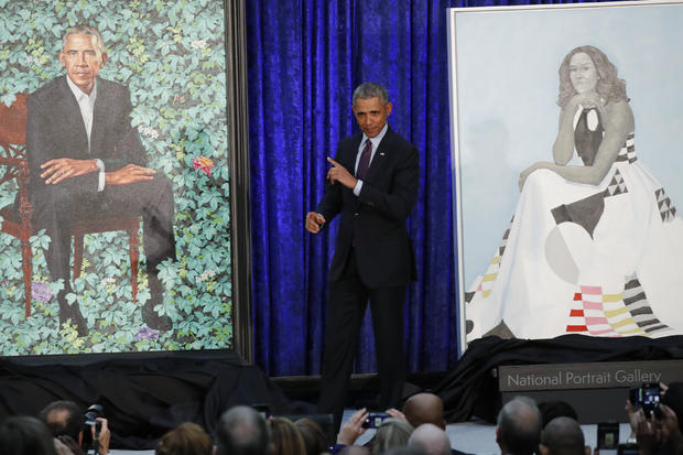 Former U.S. President Obama attends Obamas' portrait unveiling at the Smithsonian's National Portrait Gallery in Washington