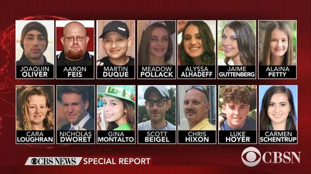 Florida School Shooting Victims Florida School Shooting Victims Identified By Authorities Pictures Cbs News