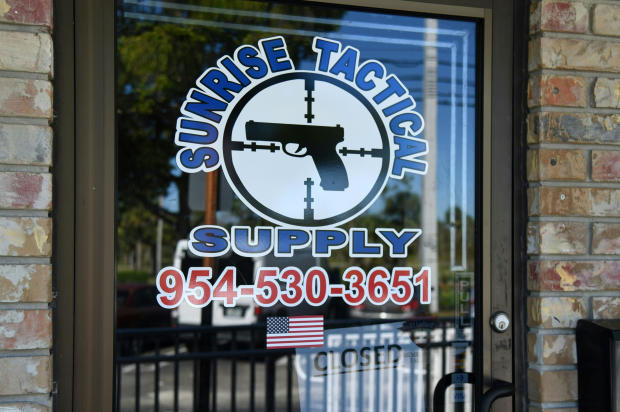 The Sunrise Tactical Supply store is seen in Coral Springs, Florida, on Feb. 16, 2018. Nikolas Cruz bought an AR-15 at the store, according to its owners.