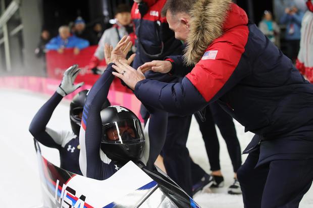 elana meyers taylor - bobsled - Winter Olympics Day 12