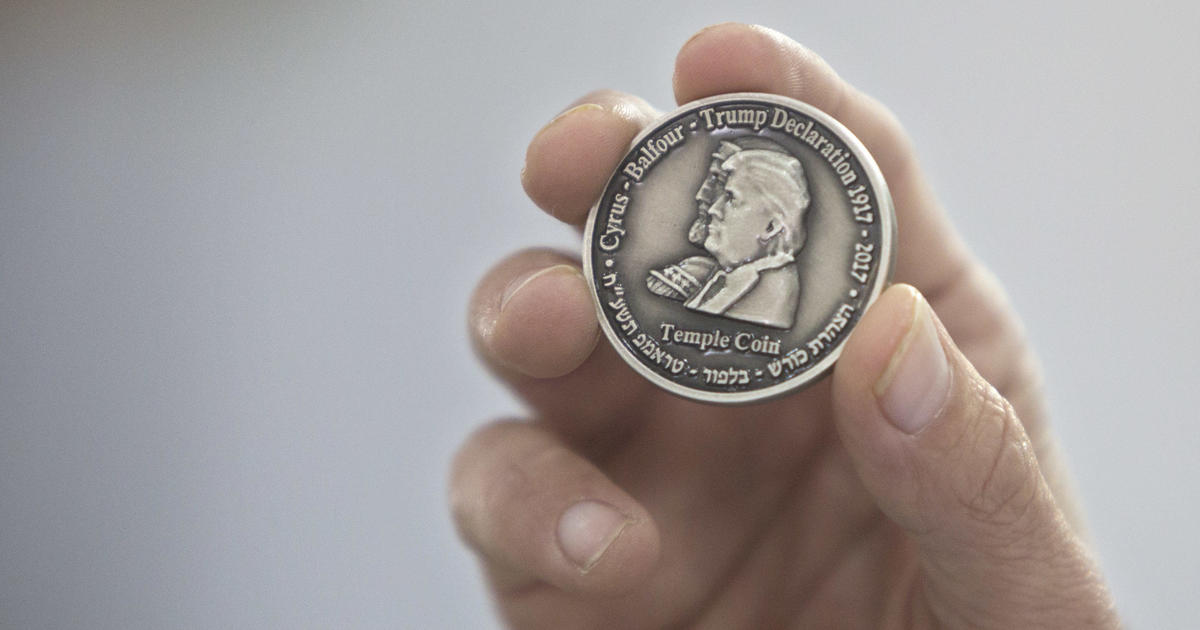 Israeli group mints coin bearing Trump's image