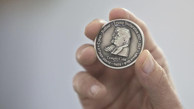 Image result for Israeli group mints coin bearing Trump's image