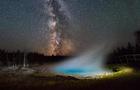 Milky Way rising behind Silex Spring