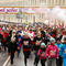 "Women participate in the ""Beauty Run"" to mark International Women's Day in Minsk"