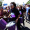 Activists take part in a march to mark International Women's Day in Managua