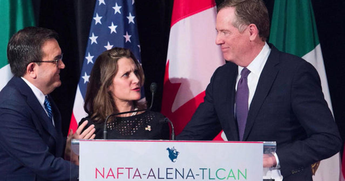 Crunch Time For Nafta 300000 Jobs At Risk Cbs News