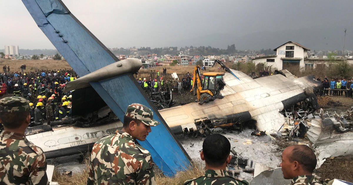 Dozens dead as plane crashes at Nepal airport