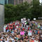 """People gather to walk with the """"March for Our Lives"""", an organized demonstration to end gun violence, in downtown Houston"""