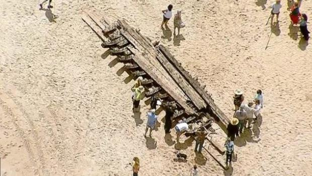 Remains from 18th century ship washes ashore on Florida beach