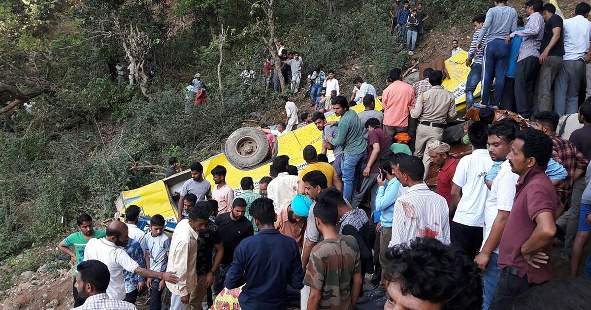 At least 23 children killed when school bus plunges into gorge in India