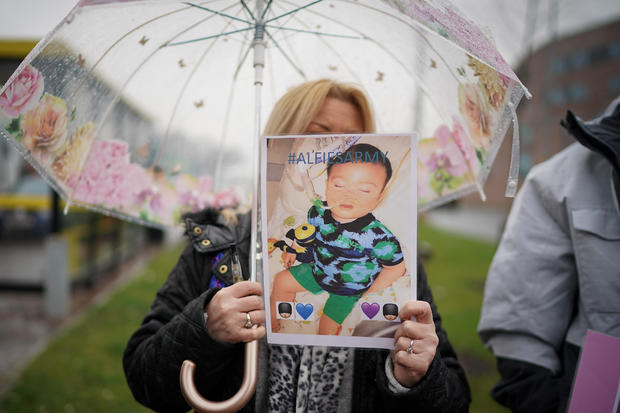 Supporters Of Alfie Evans Gather Outside Alder Hey Hospital